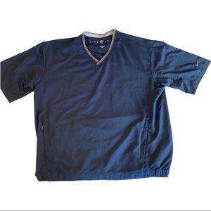 Nike Golf Navy V-Neck Short Sleeve Pullover Sz XL